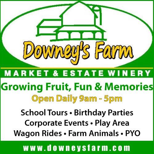 Downeys Farm ad